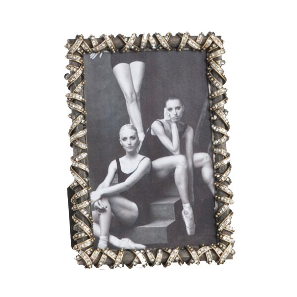 Jeweled Antique Design Picture Frame by Saro
