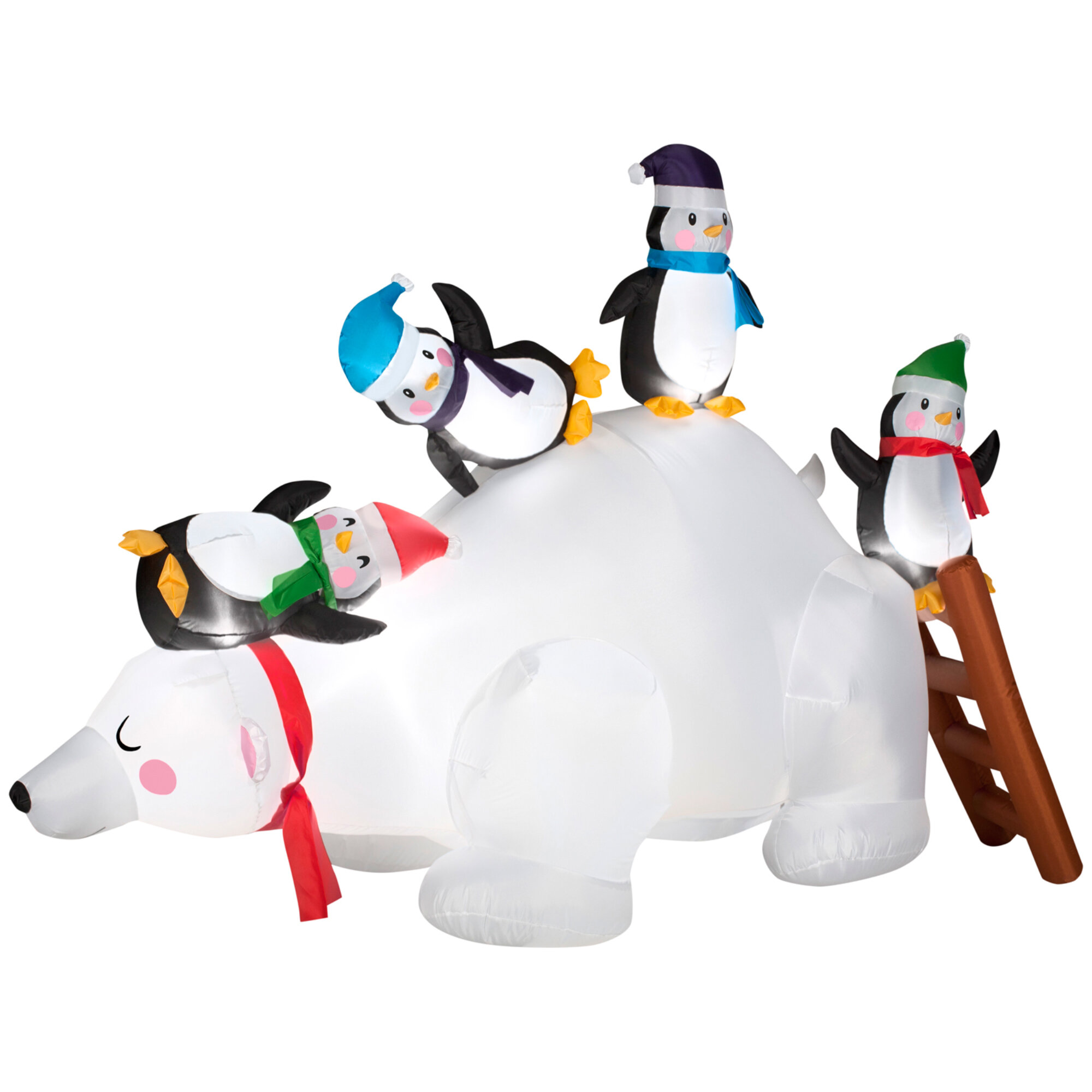 Gemmy Industries Airblown Polar Bear and Penguin Inflatables ...