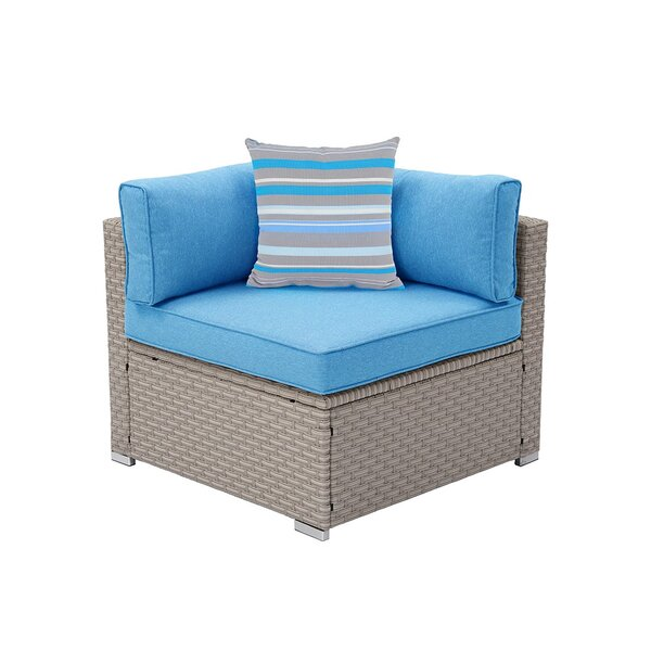 Cosimo Outdoor Furniture Right Corner Patio Chair with Cushions by Rosecliff Heights