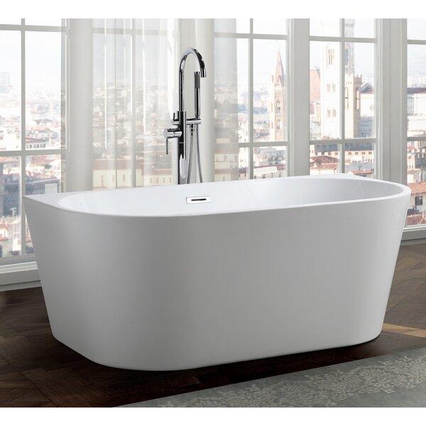 Calabria 59 x 30 Freestanding Soaking Bathtub by Bellaterra Home