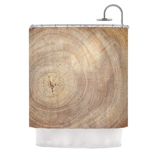 Affordable Price Aging Tree by Susan Sanders Wood Shower Curtain By East Urban Home