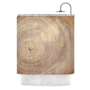 Aging Tree by Susan Sanders Wood Single Shower Curtain