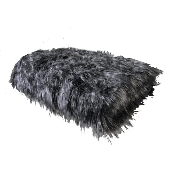 Randolph Wolf Luxury Faux Fur Throw by Everly Quinn