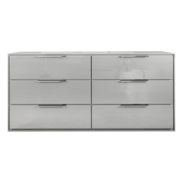Darwen 6 Drawer Double Dresser by Wade Logan