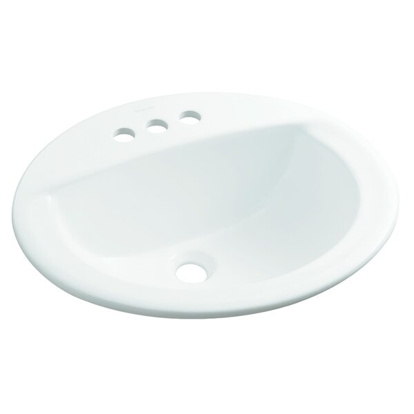 Elliot Ceramic Oval Drop-In Bathroom Sink by Sterling by Kohler