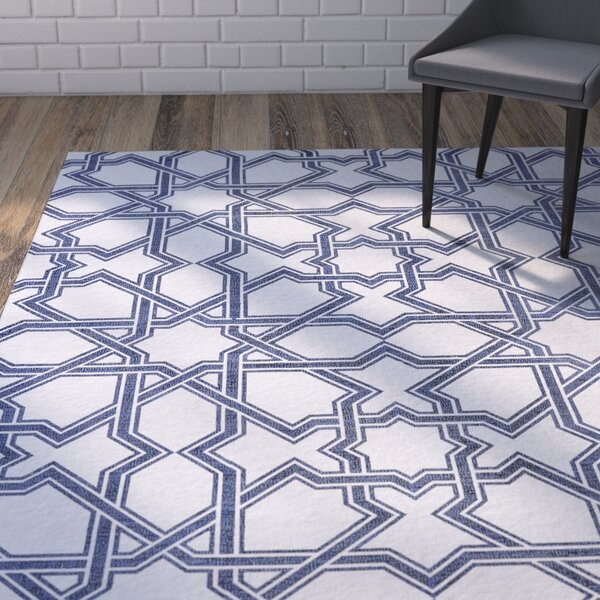 Paolucci Hand-Woven Atlantic Area Rug by Wrought Studio