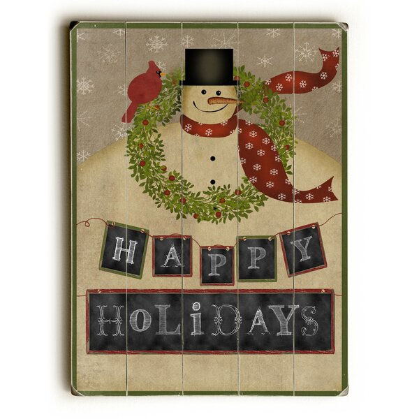 Happy Holidays Graphic Art Plaque by The Holiday Aisle
