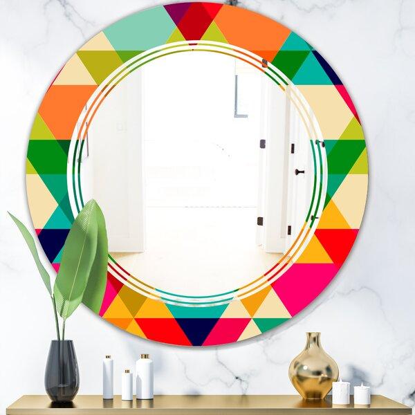 Diamond IX Triple C Modern Frameless Wall Mirror