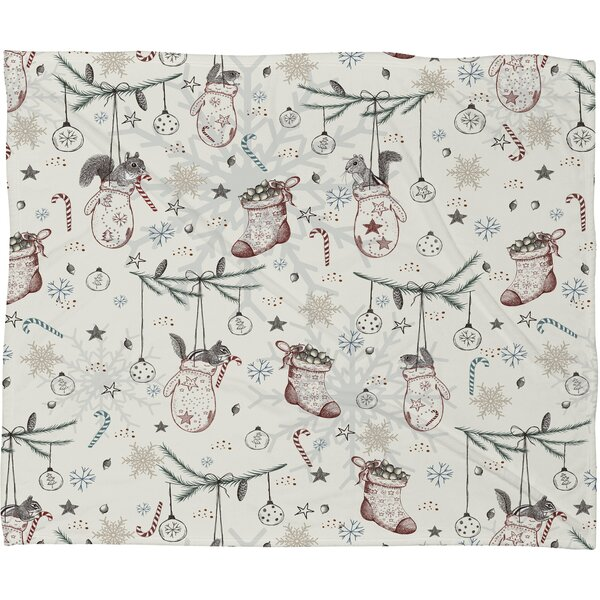 Silkeborg Heavenly Christmas Plush Fleece Throw Blanket by The Holiday Aisle
