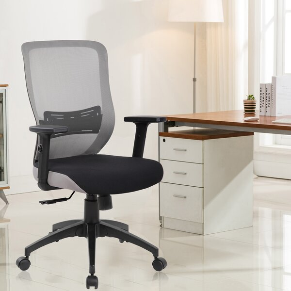 Uxbridge Lumbar Mid-Back Mesh Desk Chair by Ebern Designs