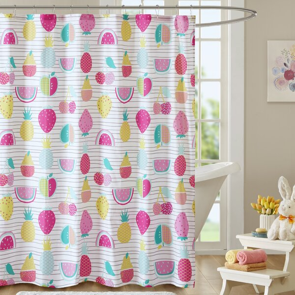 Mosley Cotton Shower Curtain by Harriet Bee
