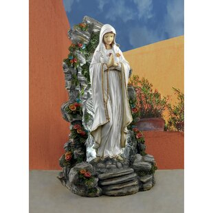 Charmant Blessed Virgin Mary Illuminated Garden Grotto Statue
