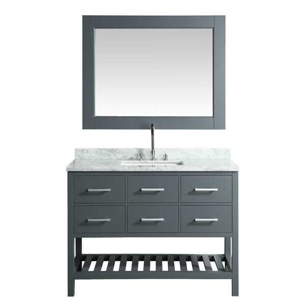 London Cambridge 48 Single Bathroom Vanity Set with Mirror by dCOR design