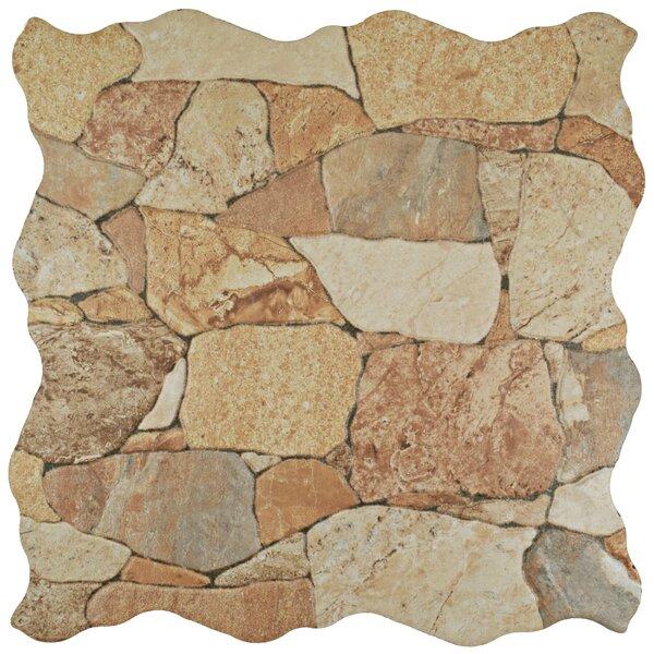 Atticas Random Sized Ceramic Splitface Tile in Beige by EliteTile
