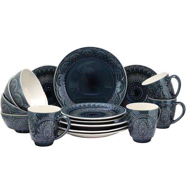 Cropsey 16 Piece Dinnerware Set, Service for 4 by Bungalow Rose
