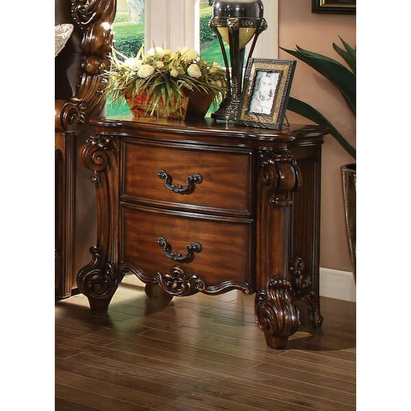 Dilbeck 2 Drawer Nightstand by Astoria Grand