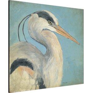'Coastal Blue Heron' Painting Print on Wrapped Canvas by Ashton Wall Décor LLC