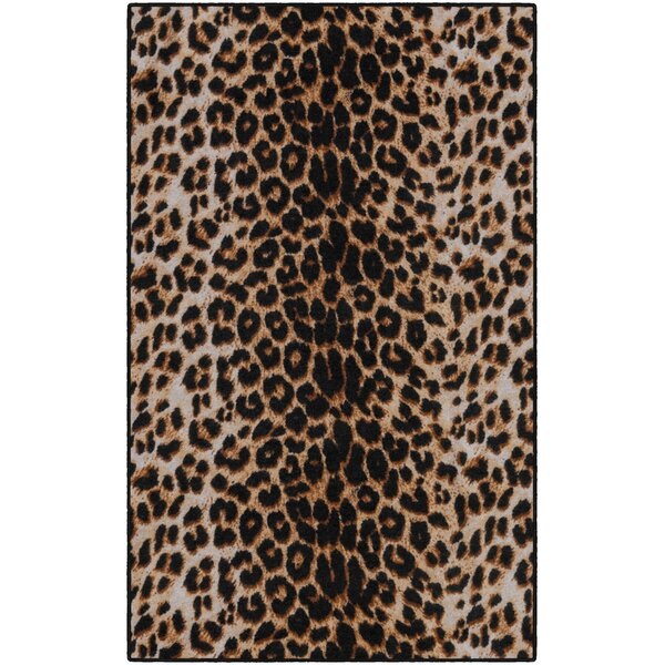 Lassiter Print Brown/Black Area Rug by World Menagerie
