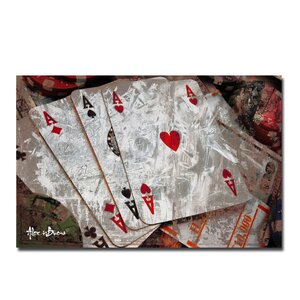 Poker II' Graphic Art on Canvas by Ready2hangart