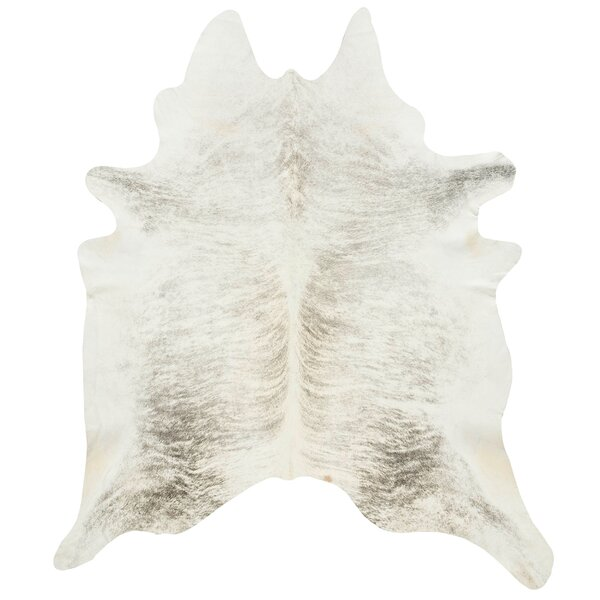Friedman Light Grey Cowhide by Brayden Studio