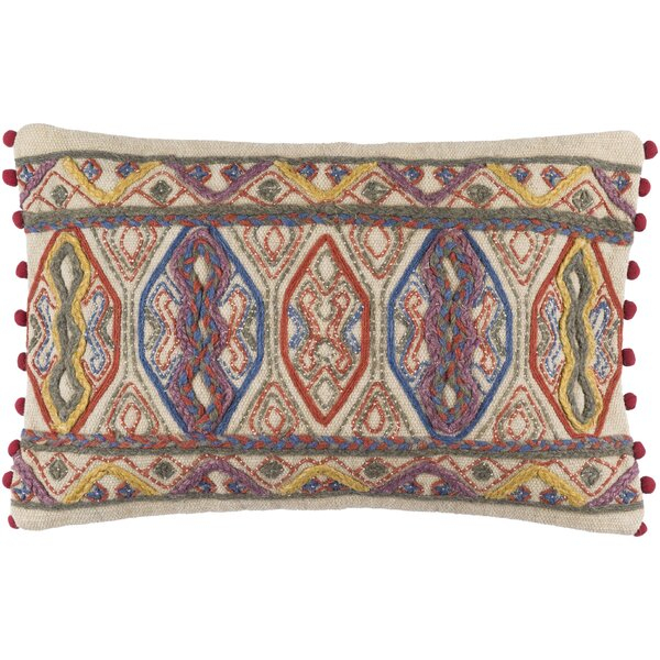 Fressia Cotton Lumbar Pillow by Mistana