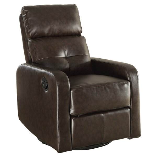 Manual Swivel Glider Recliner by Monarch Specialties Inc.