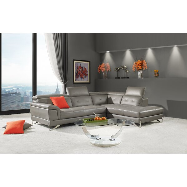 Steadman Leather Sectional by Orren Ellis