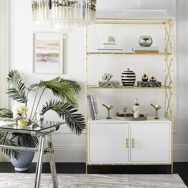 Neria Standard Bookcase By Everly Quinn