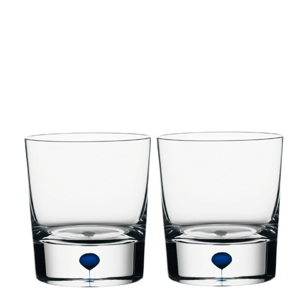Intermezzo Old Fashioned Whiskey 8 oz. Crystal Cocktail Glass (Set of 2) by Orrefors