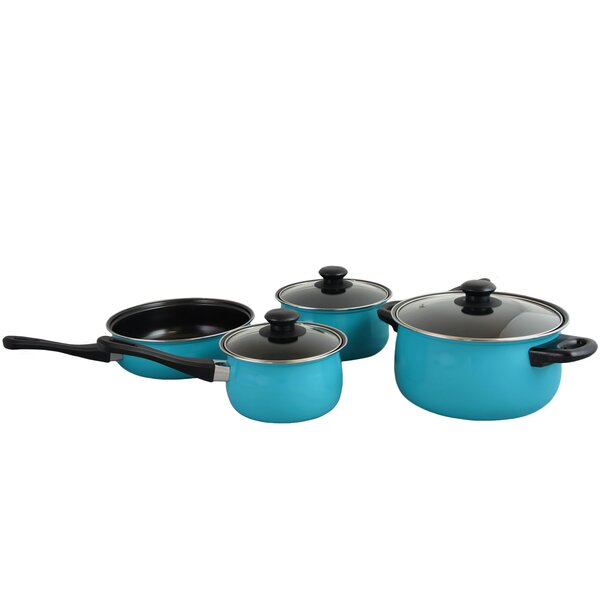 Chef Du Jour 7 Piece Non-Stick Cookware Set by Gibson