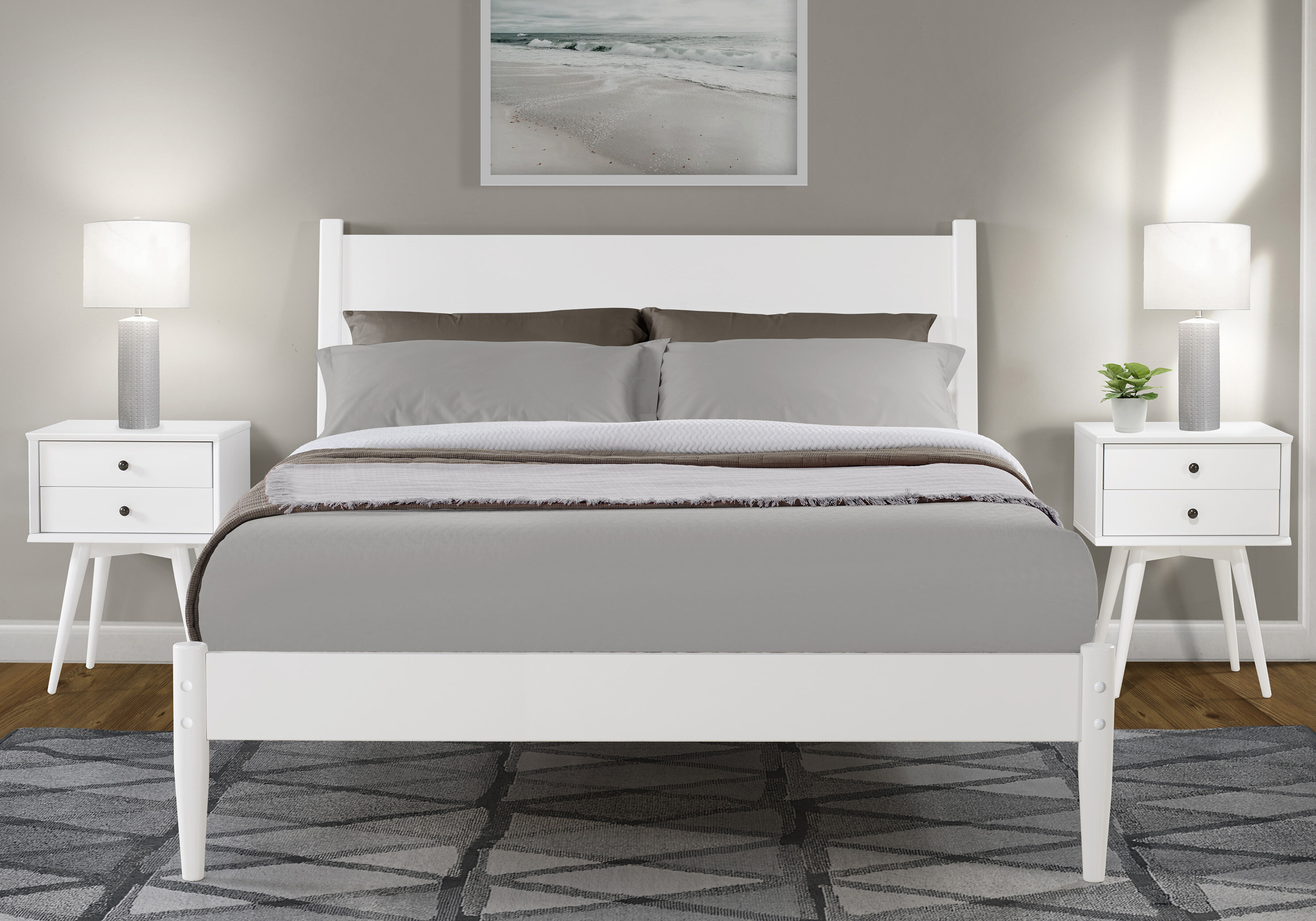 Picture of: White Platform Beds Wayfair
