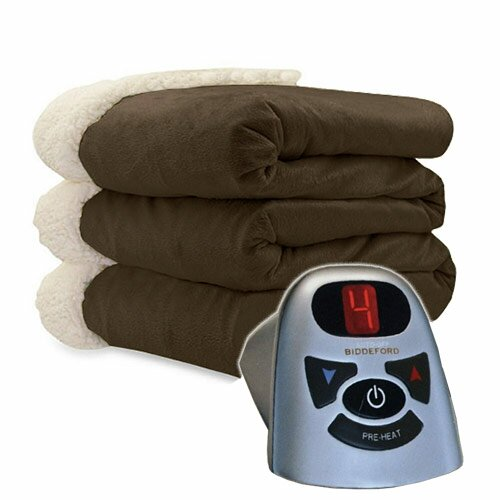 Micro Mink and Sherpa Heated Blanket by Bell + Howell