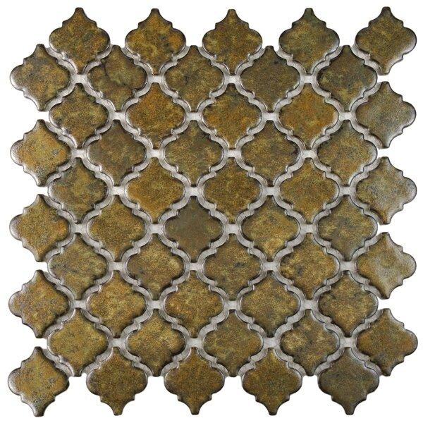 Pharsalia 2 x 2.25 Porcelain Mosaic Tile in Brownstone by EliteTile
