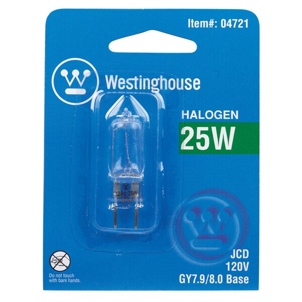 25W GY7.9 Dimmable Halogen Edison Capsule Light Bulb by Westinghouse Lighting