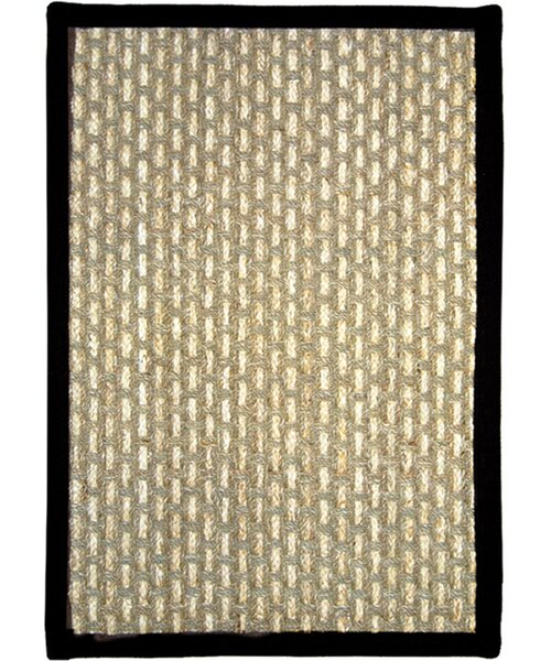 Plumbago Beige/Black Area Rug by Bay Isle Home