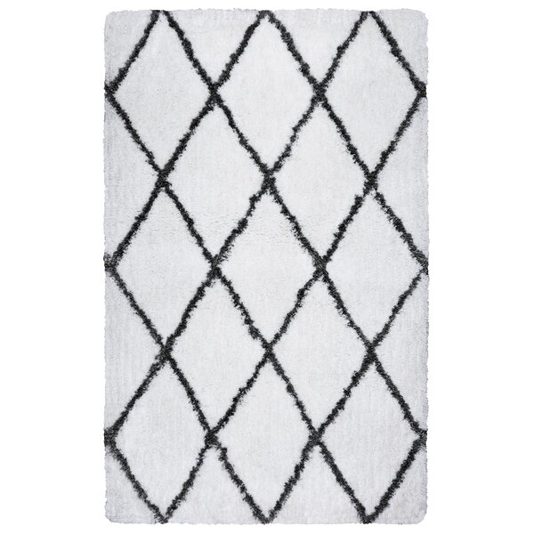 Solarte Hand-Tufted Bright White/Gray Rug