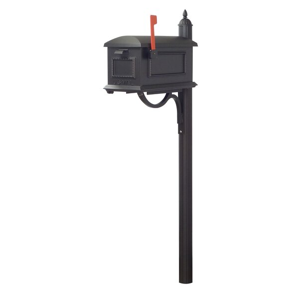 Traditional Curbside Mailbox and Richland Mailbox Post by Special Lite Products