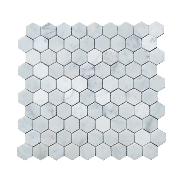 1.25 x 1.31 Natural Stone Mosaic Tile in Carrara by Mulia Tile