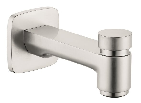 Logis Wall Mounted Tub Spout Trim with Diverter by Hansgrohe Hansgrohe