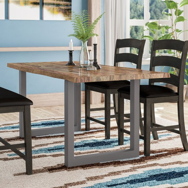 Avelar Solid Wood Dining Table by Loon Peak
