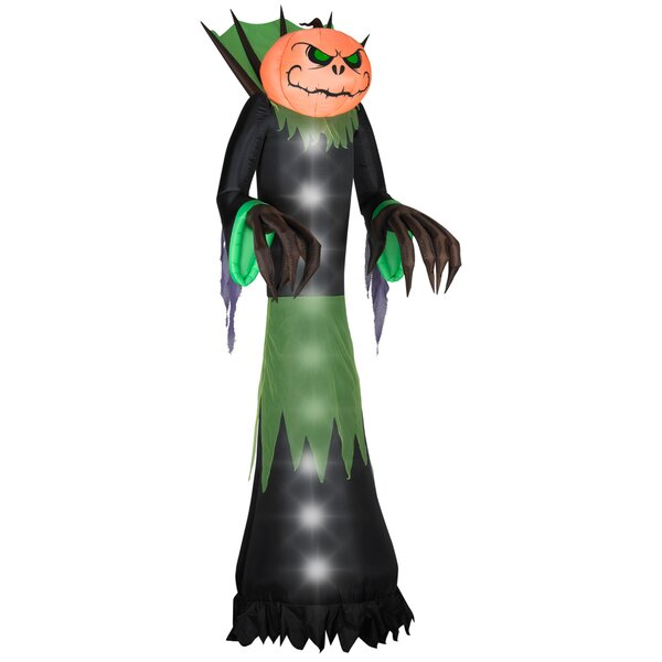 Airblown Pumpkin Head Reaper Inflatable by The Holiday Aisle