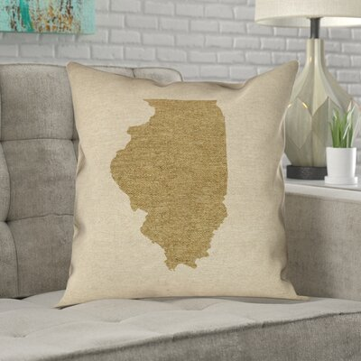 Ivy Bronxkirkley Illinois Pillow In No Uv Waterproof Mildew Proof Throw Pillow Ivy Bronx Color Gold Size 18 X 18 Dailymail