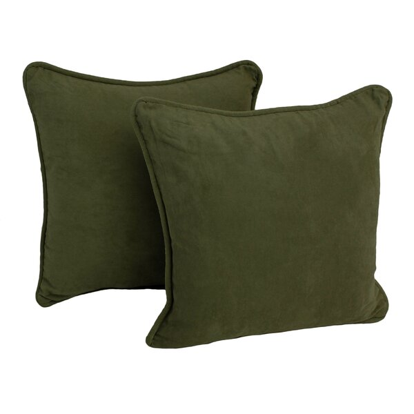 Lehigh Microsuede Throw Pillow (Set of 2) by Three Posts