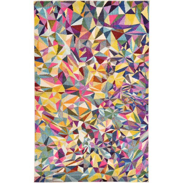 Giroux Geometric Yellow/Blue/Pink Area Rug