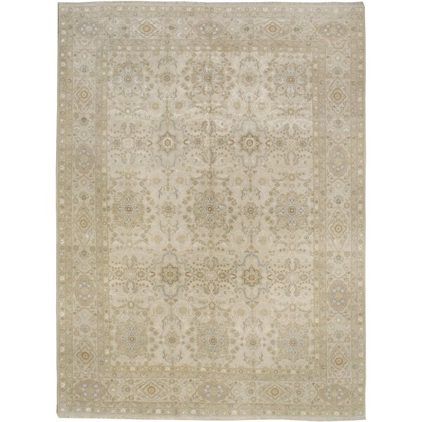 One-of-a-Kind Hand-Knotted Beige 8'10 x 12'3 Area Rug