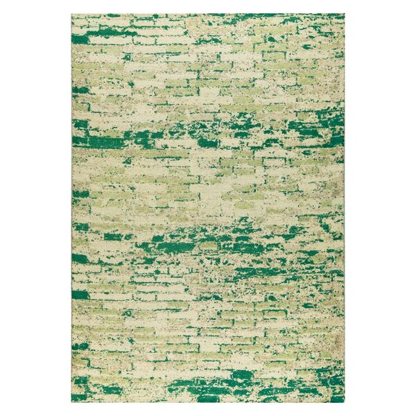 Fargo Hand-Woven Green Area Rug by M.A. Trading