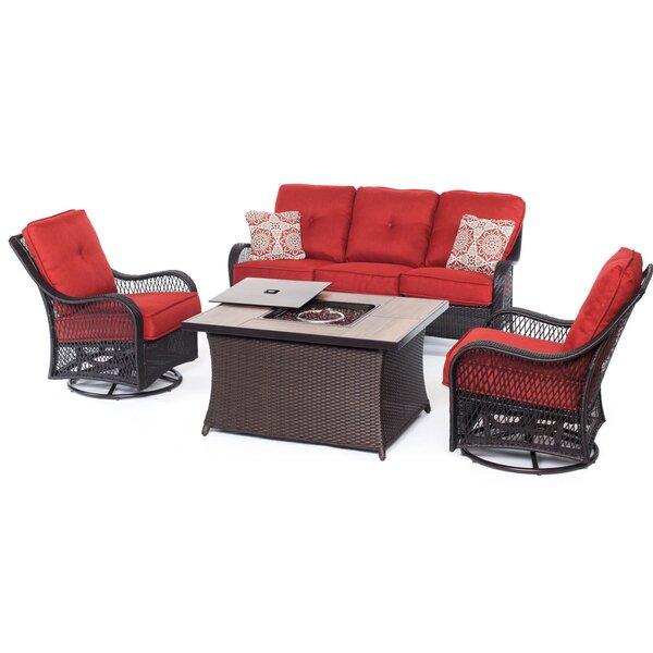Innsbrook 4 Piece Rattan Sofa Set with Cushions by Alcott Hill