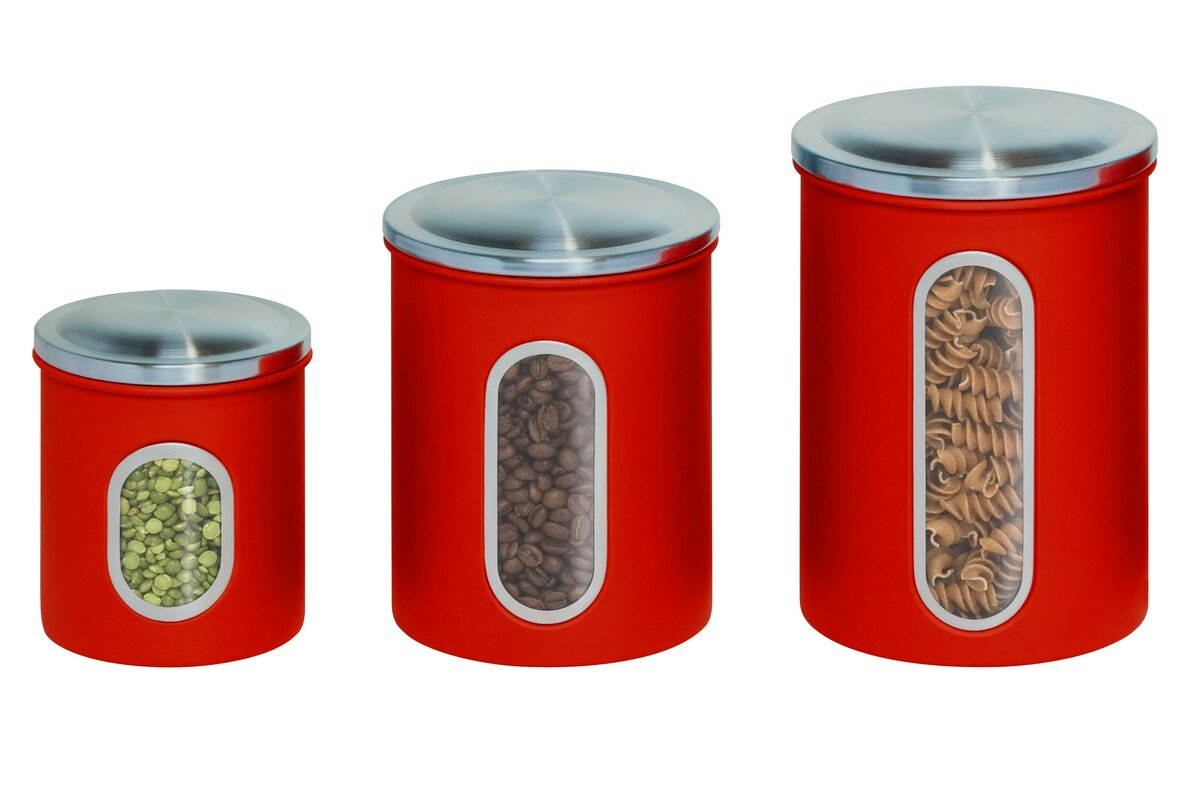Honey can do 3 piece kitchen canister set reviews for Kitchen set name
