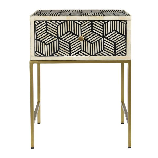 Guidi End Table With Storage By Bungalow Rose