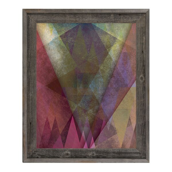 Jagged Towering Cerise Firs Framed Graphic Art on Canvas by Click Wall Art